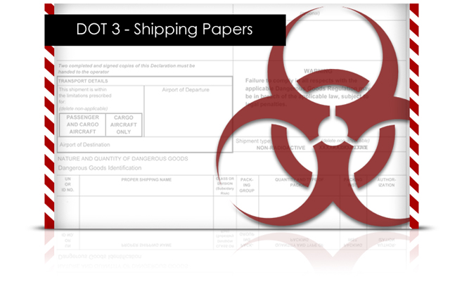 DOT 3: Shipping Papers elearning Course