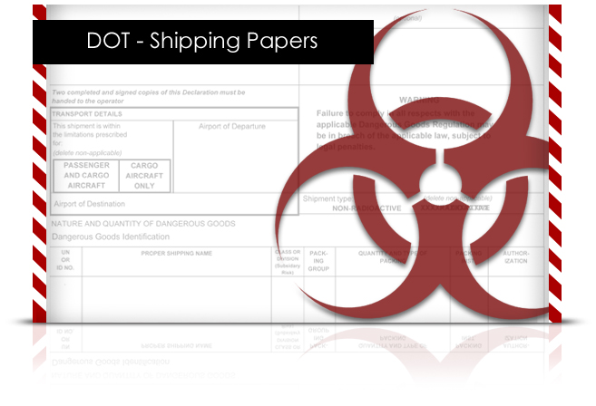 DOT - Shipping Papers elearning course